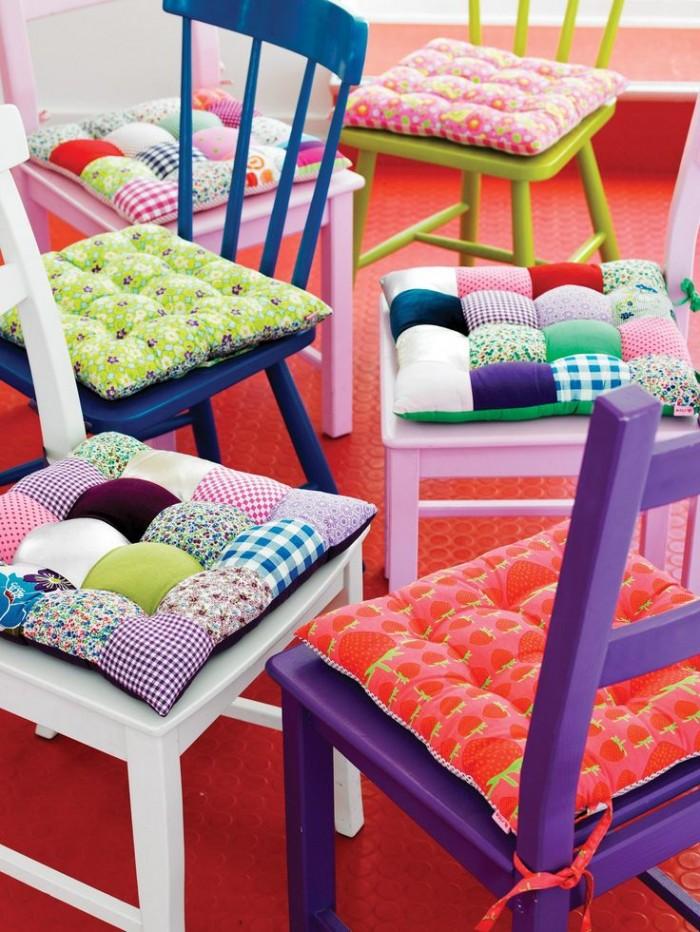 Colcha de retalhos patchwork chair