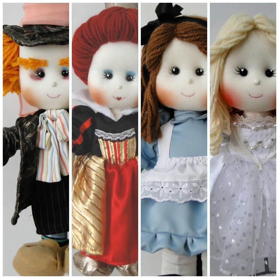 Os cabelinhos são marca registrada de Vanessa, do Parece Gente. Na foto, os personagens de Alice no país das maravilhas (crédito da foto: reprodução Facebook Parece Gente)