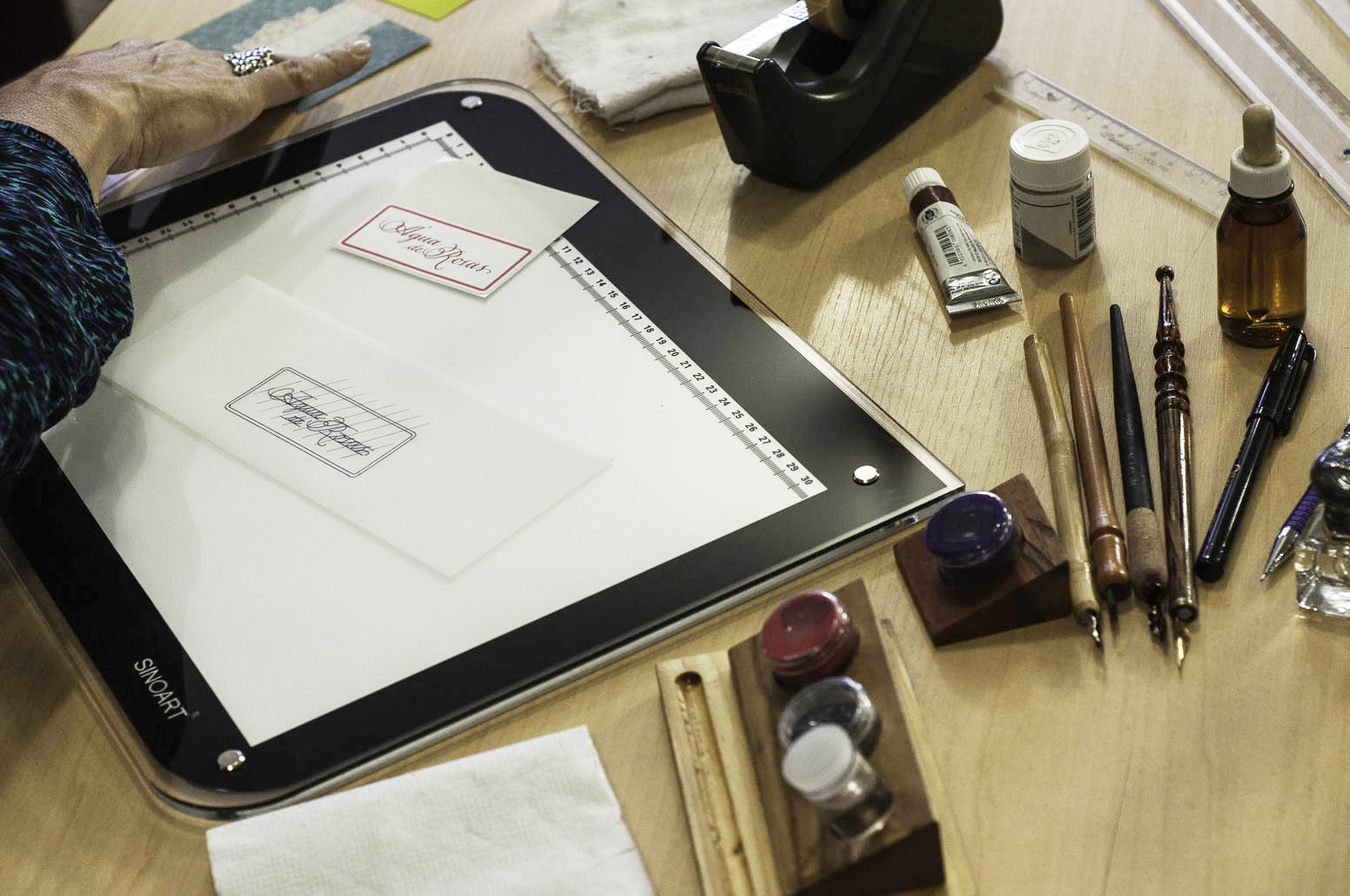 Materiais utilizados pelos calígrafos