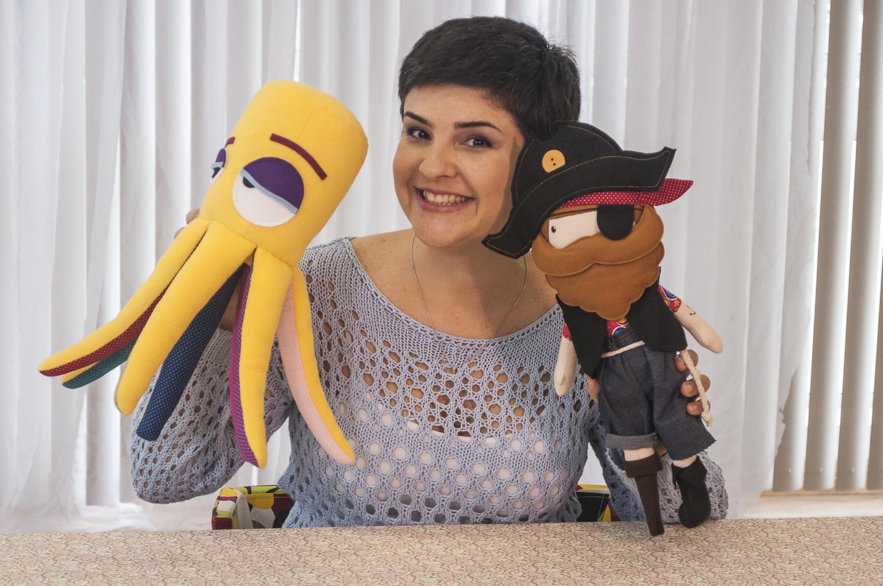 A ideia para a criação desses bonecos veio do marido de Gigi