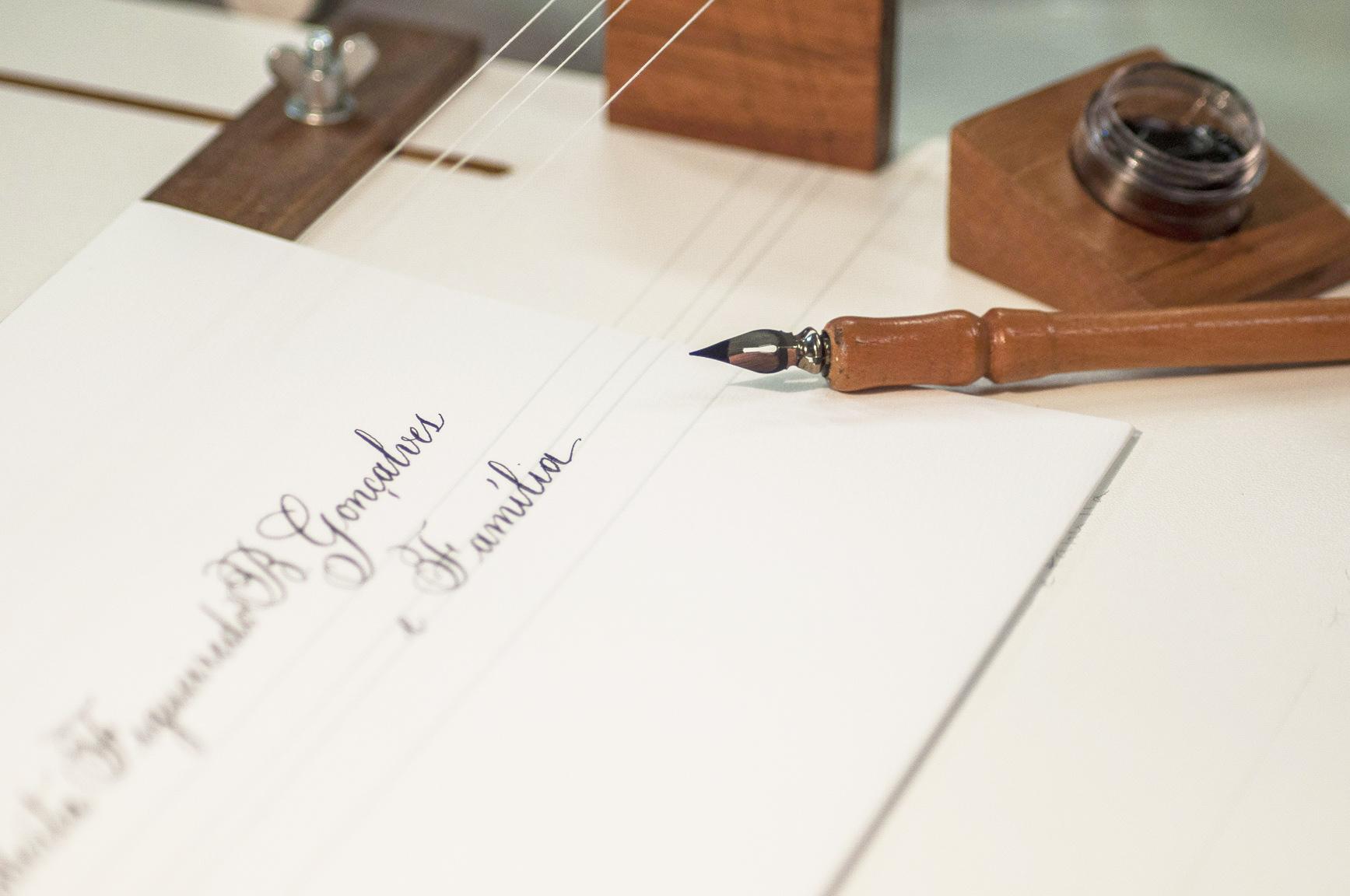 Caligrafia é muito mais do que escrever de forma bela