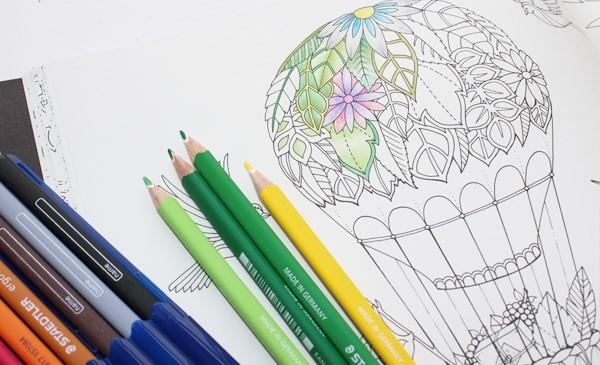 Ilustração de livro de colorir: atividade é relaxante e anti-estresse (crédito da foto: reprodução site Johanna Basford)