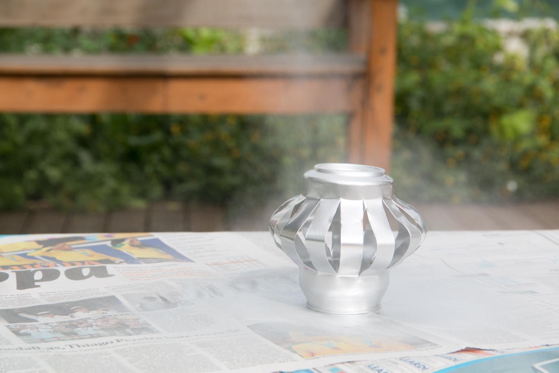 Depois é só esperar secar, e pronto! || PAP: simpática lanterna de vela - Blog Artesanato e ponto