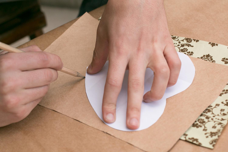 Marque os pontos de dobra |PAP: Envelope de coração - Blog Artesanato e ponto