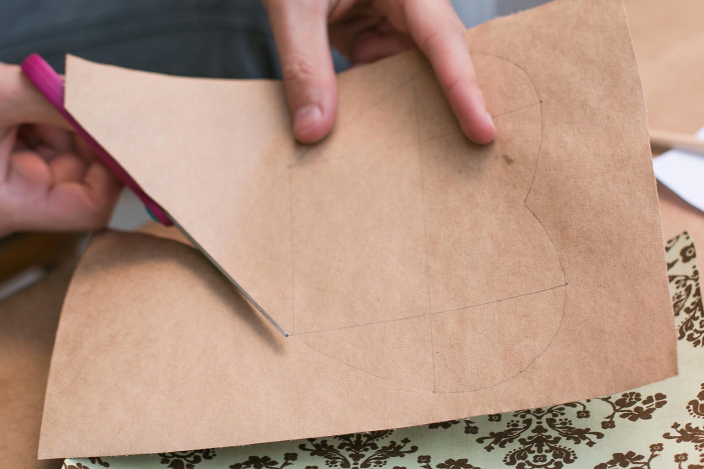Agora recorte seu envelope |PAP: Envelope de coração - Blog Artesanato e ponto
