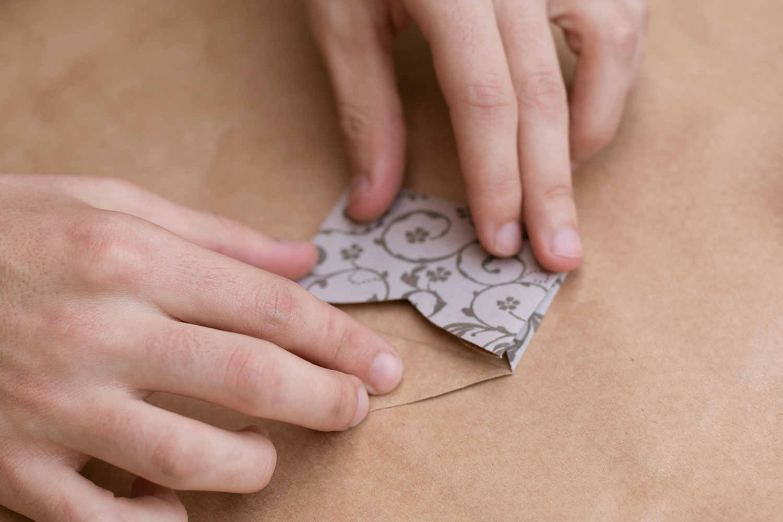 última dobra do envelope |PAP: Envelope de coração - Blog Artesanato e ponto