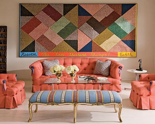 Linhas retas e geométricas se encontram nessa foto, fazendo uma linda combinação para decorar o ambiente (crédito da foto: reprodução site lushome)