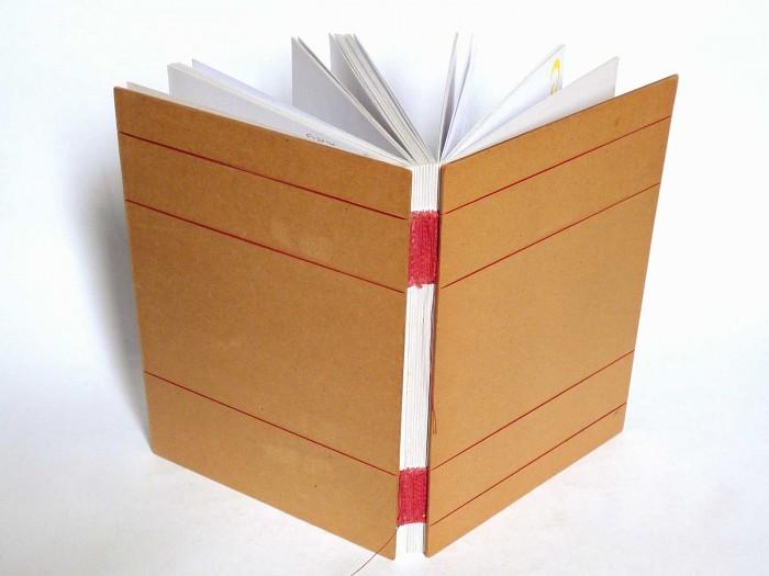 O primeiro caderno feito pela Luisa (crédito da foto: Luisa Gomes Cardoso)