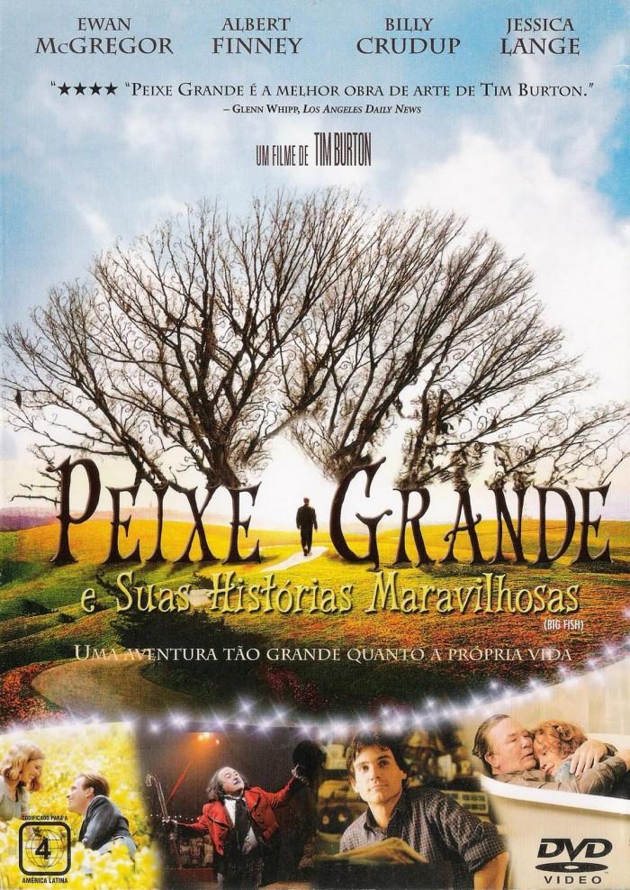 Filme Peixe grande do diretor Tim Burton possui uma linguagem única nas cores e estilo.