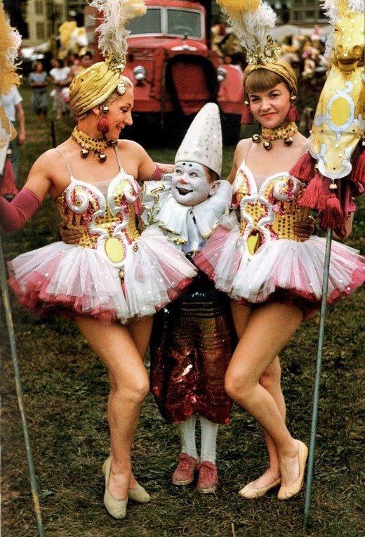 Circenses da década de 50 (crédito da foto: site flavorwire)