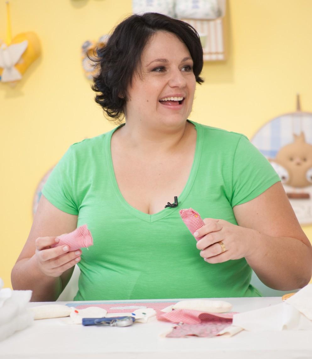 Nanda se dedica ao artesanato: pesquisa tendências e está sempre em busca de aprender algo novo