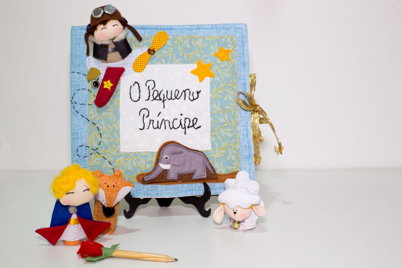 O livro interativo desenvolvido por Katia com a temática do Pequeno Príncipe