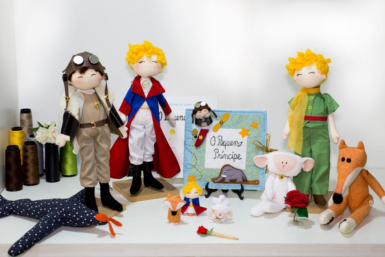 Peças de Katia Callaça para o curso. Baixe a lista de materiais do curso O Pequeno Príncipe: bonecos de pano