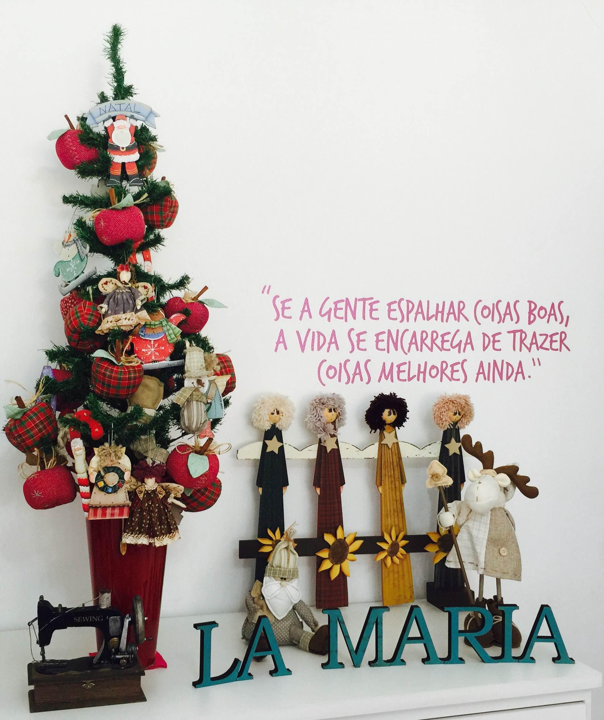 Árvore de Natal feita pela Carol Viana