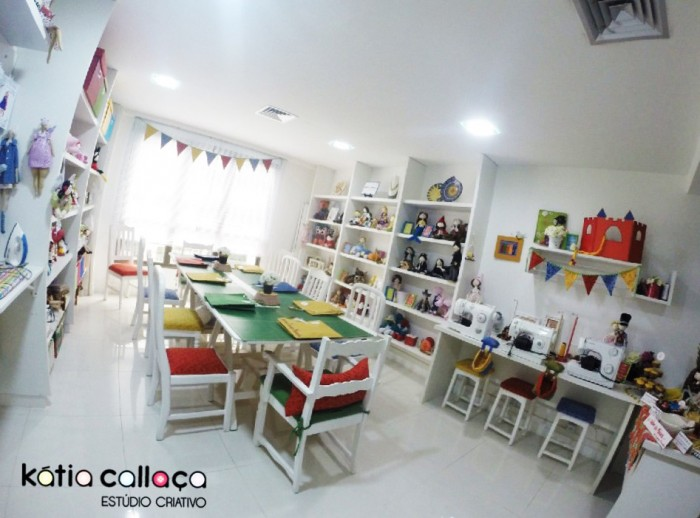 Estúdio criativo da Katia Callaça (crédito da foto: Katia Callaça)