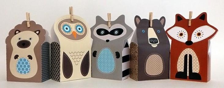 Embalagens para lembrancinha: turminha animal! (crédito da foto: Flickr)