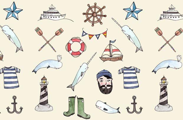 Elementos para inspirar você na criação de suas peças com tema navy (crédito da foto: la mono magazine)