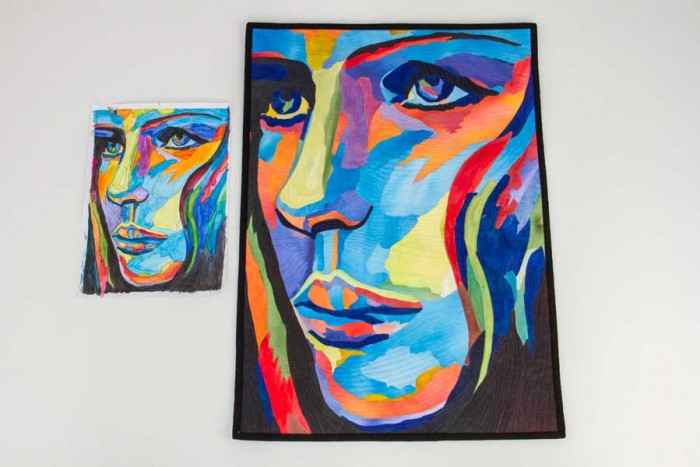 projeto e trabalho final de patchwork artístico