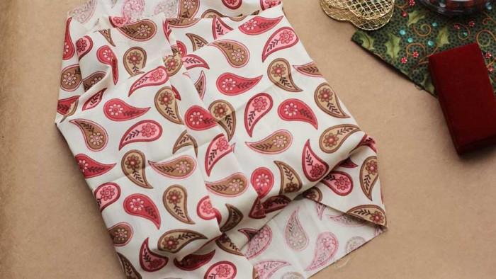 Dobras criativas no tecido para fazer um charme na embalagem