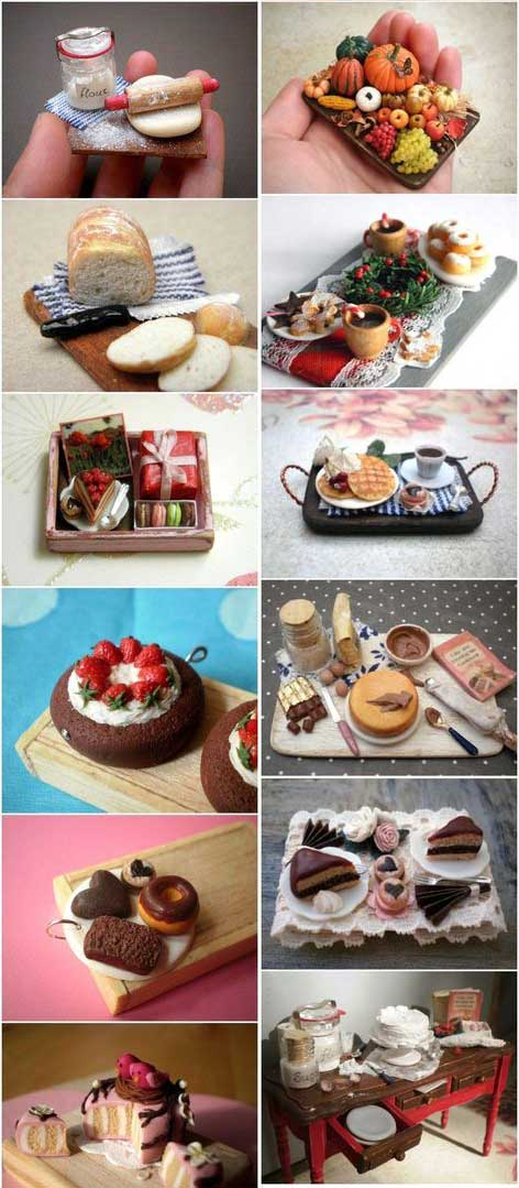 Peças pequenas minuciosamente decoradas em biscuit (reprodução do site: artesanatoehumordemulher)