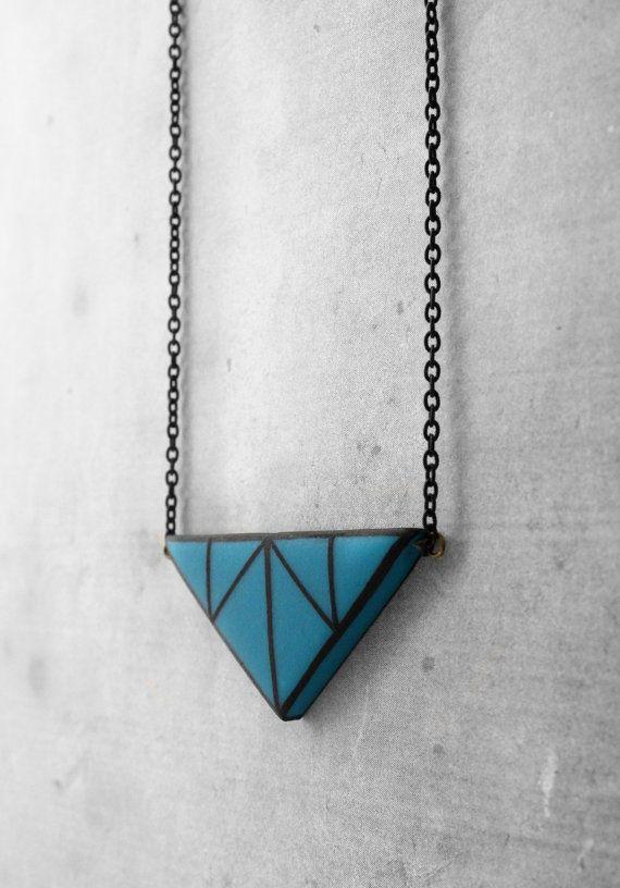 Lindo colar geométrico em biscuit  (reprodução do site: etsy)