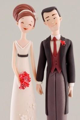 Casal de noivos mais do que simpáticos (reprodução do site: happymodern)