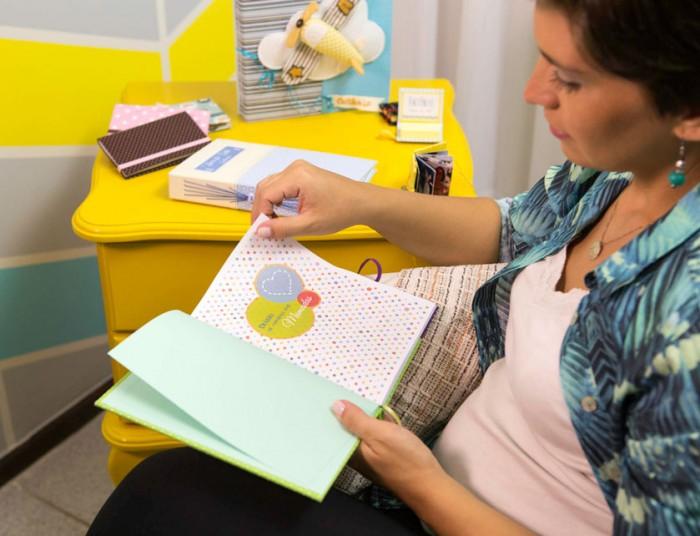 Encadernação: peças para mamãe e bebê com Tereza Pires