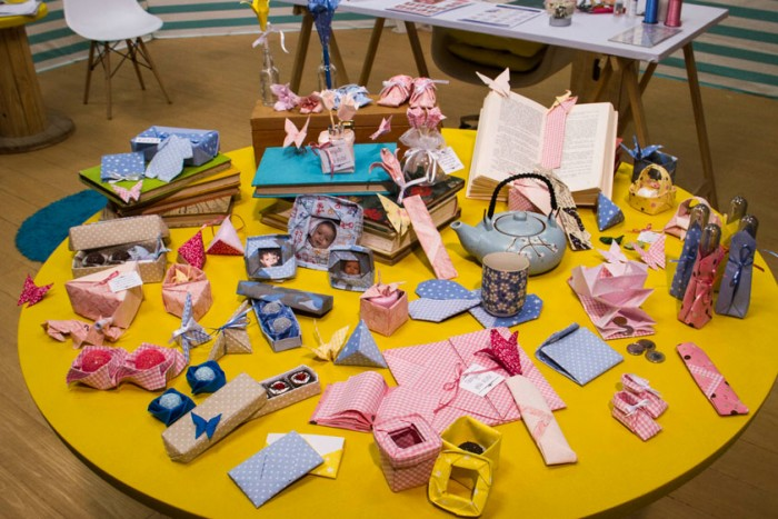 Lembrancinhas para maternidade com origami em tecido com Thaís Kato