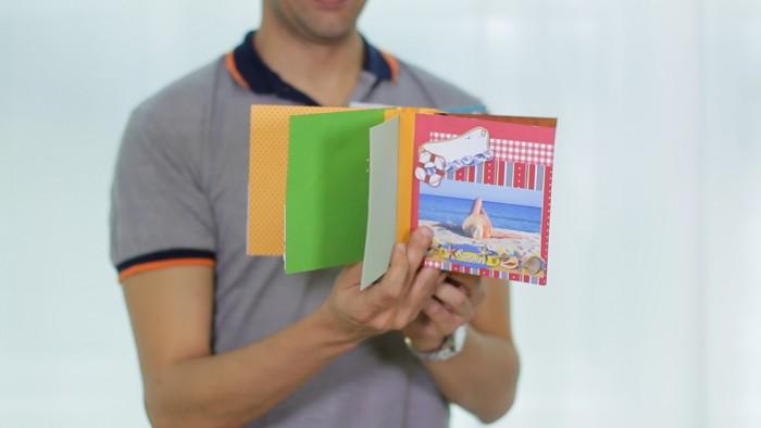 O Hélvio nos mostra o seu álbum de fotos feito em scrapbook