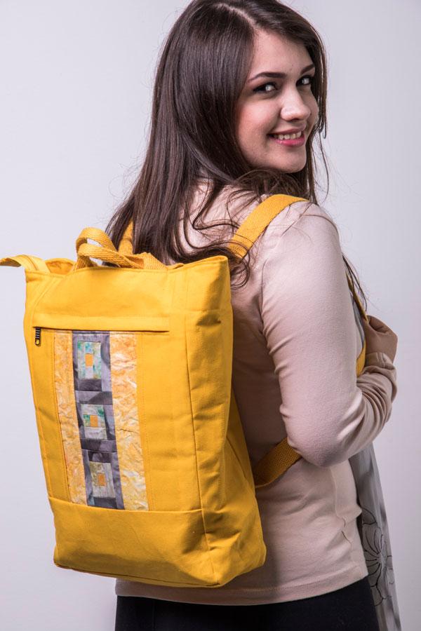 Bolsa que vira mochila, do curso bolsas versáteis de Marcia Satiko