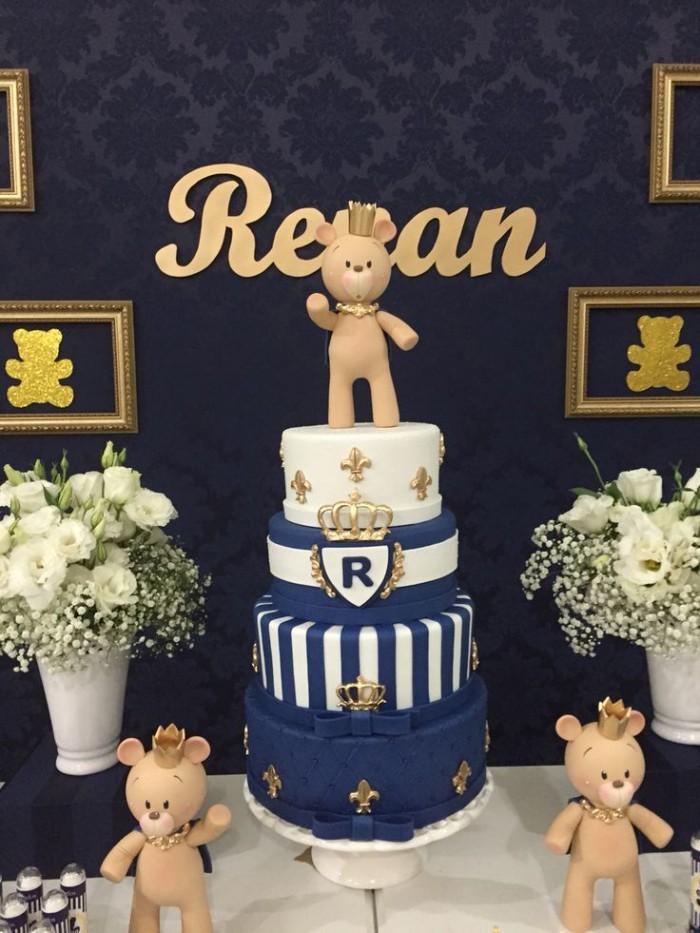 decoração para festa de menino com ursos em massinha (reprodução do site: dani sakurai)