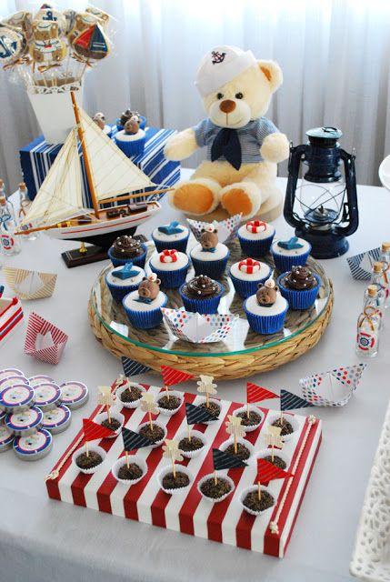 decoração para festa de menino com o tema marinheiro (reprodução do site: fabianamouraprojetospersonalizados)