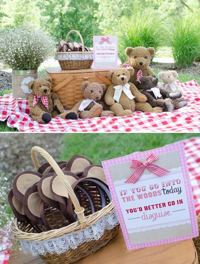 festa do pique-nique com ursos e orelinhas! (reprodução do site: pizzazzerie)