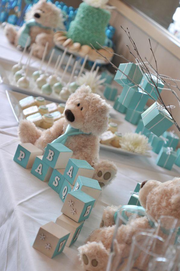 festinha com decoração de ursos para bebês (reprodução do site: totesandthecity)