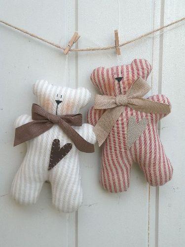 Ursinhos de varal para decoração de festas (reprodução do site: umsonhodecinderela)
