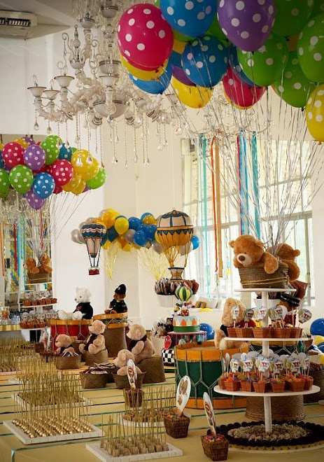 festinha com tema balões e ursos com um toque de circo (reprodução do site: unicasaopaulo)