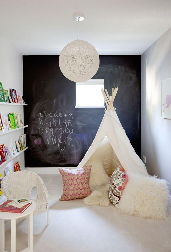 Cabanas, ou conhecidas na internet como teepees, são tendências na decoração de quarto de bebê (reprodução do site: bloglovin)