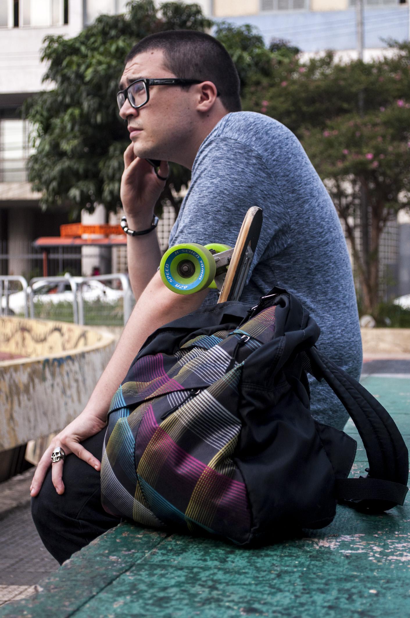 Com essa prática mochila, você carrega tudo o que precisa