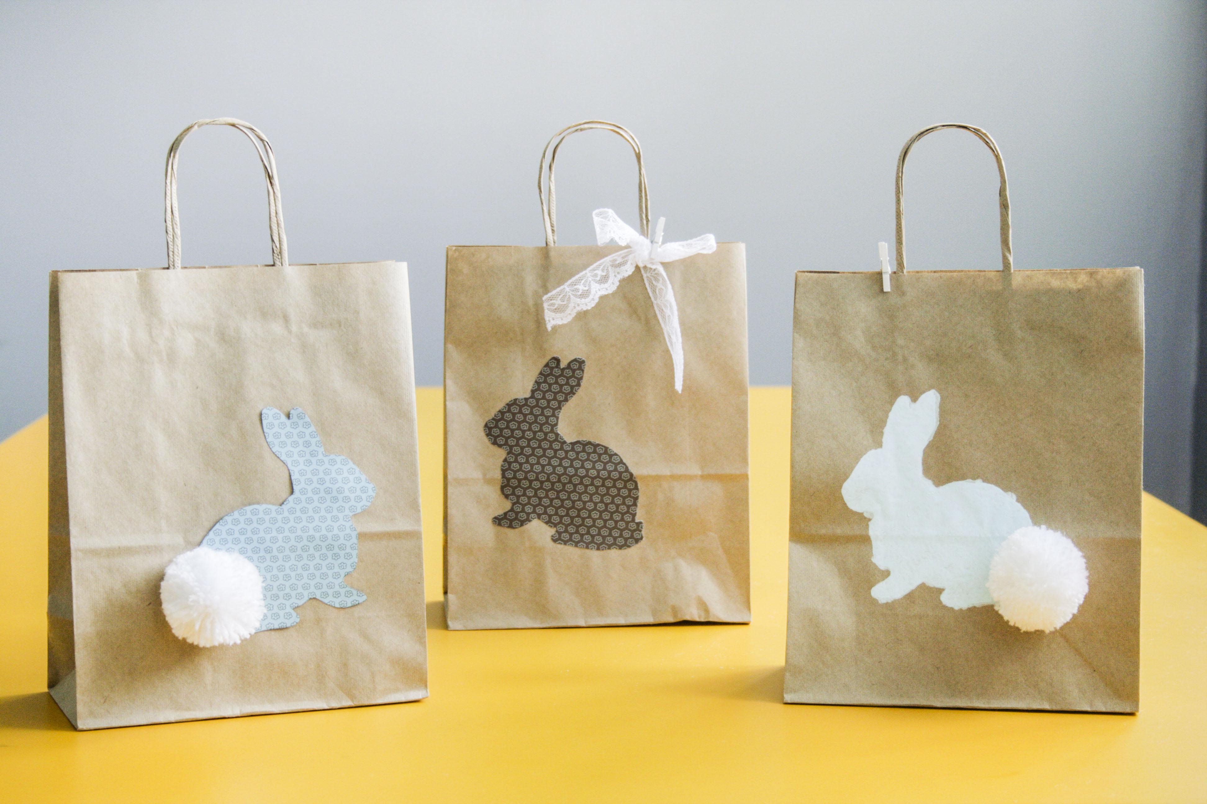 Sacola de coelho com rabinho de pompom: uma delicada surpresa para suas clientes