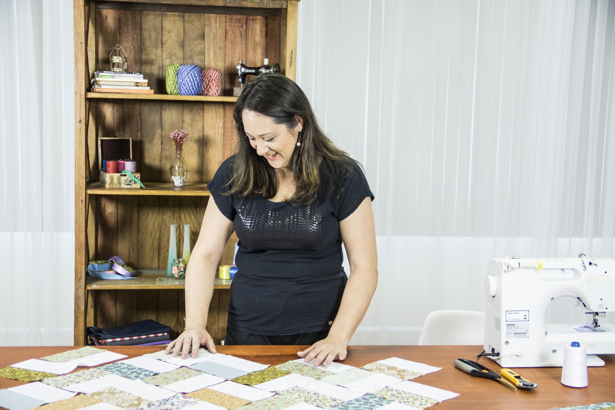 Marcia Satiko ensina técnicas do patchwork