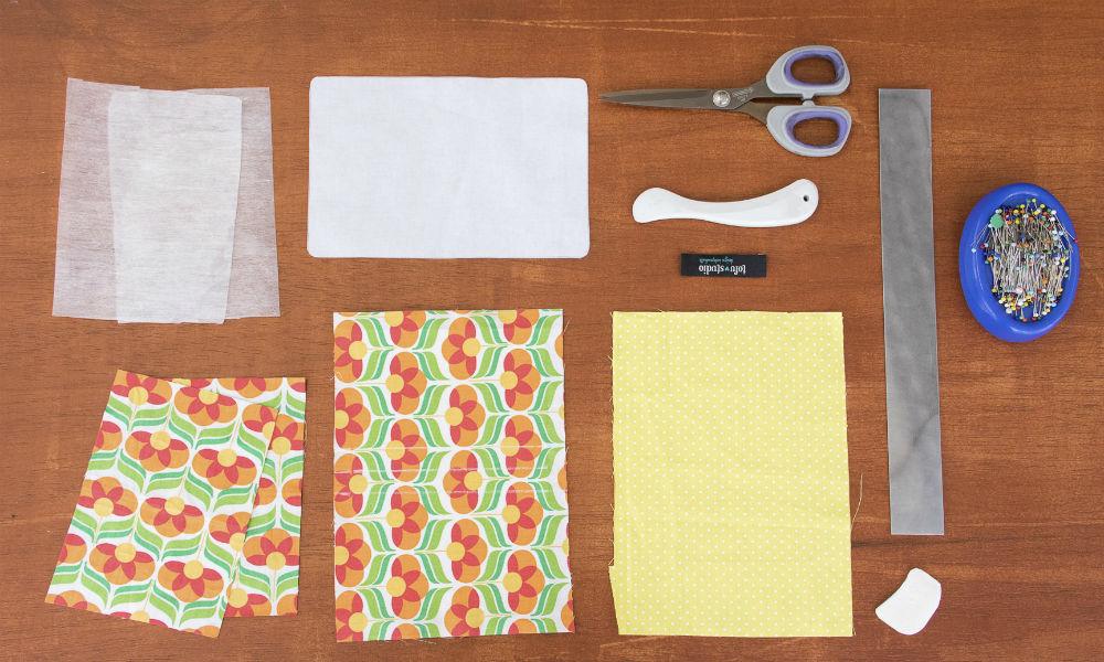 Esses são os materiais necessários para fazer a sua carteira em tecido!