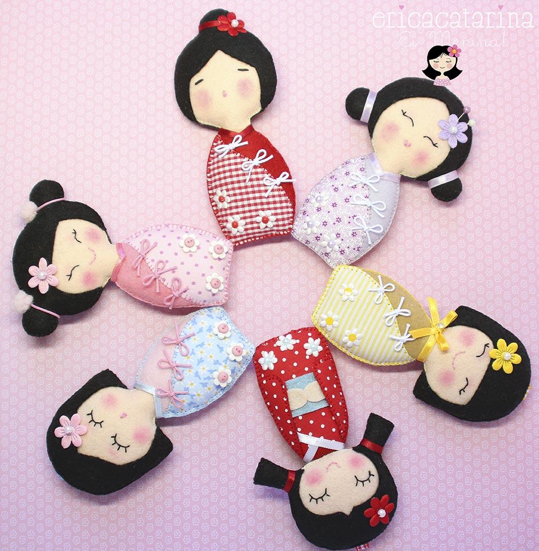 As Kokeshis,  tradicionais bonequinhas japonesas
