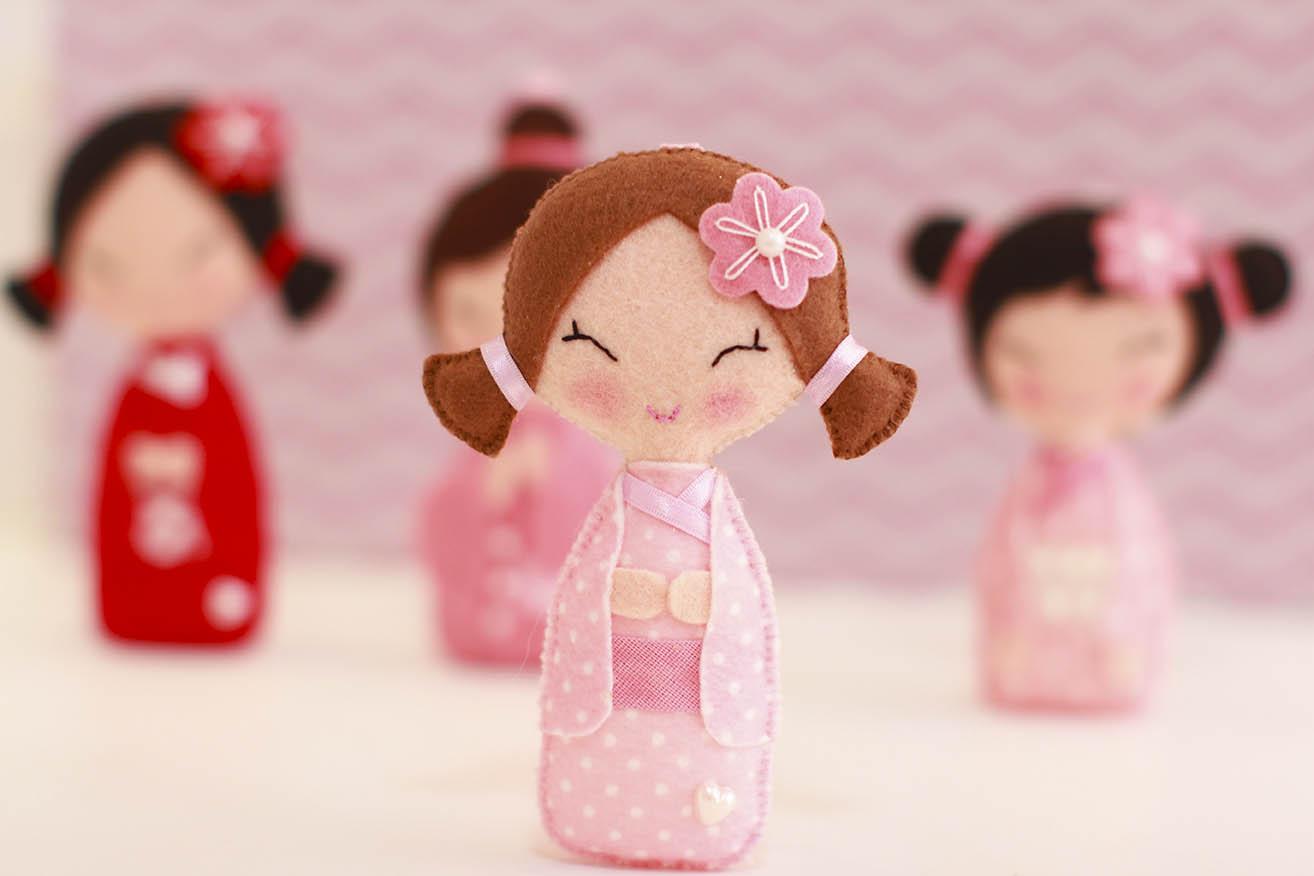 As bonequinhas japonesas representam a beleza feminina