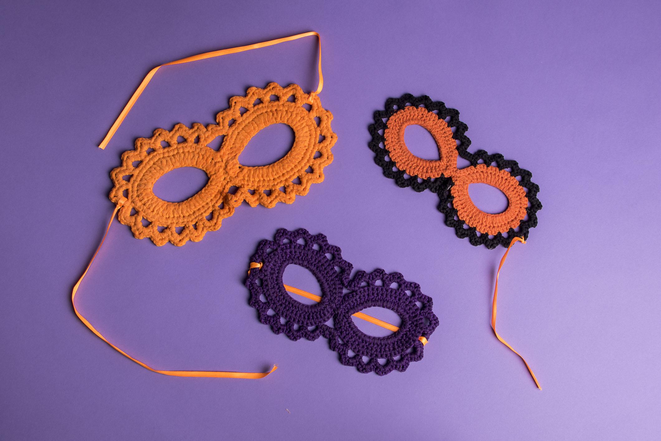 Lindas máscaras de crochê para Halloween!