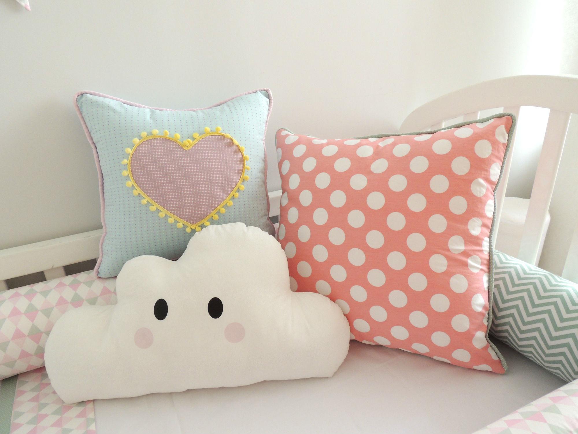 As almofadas dão aquele toque especial à decoração de bebês