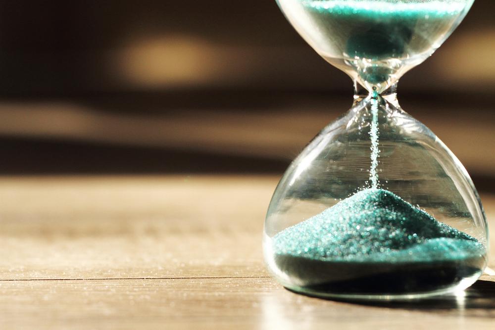 Veja por outra perspectiva: é você que controla o tempo e não o tempo que controla você! (crédito da foto: Shutterstock)
