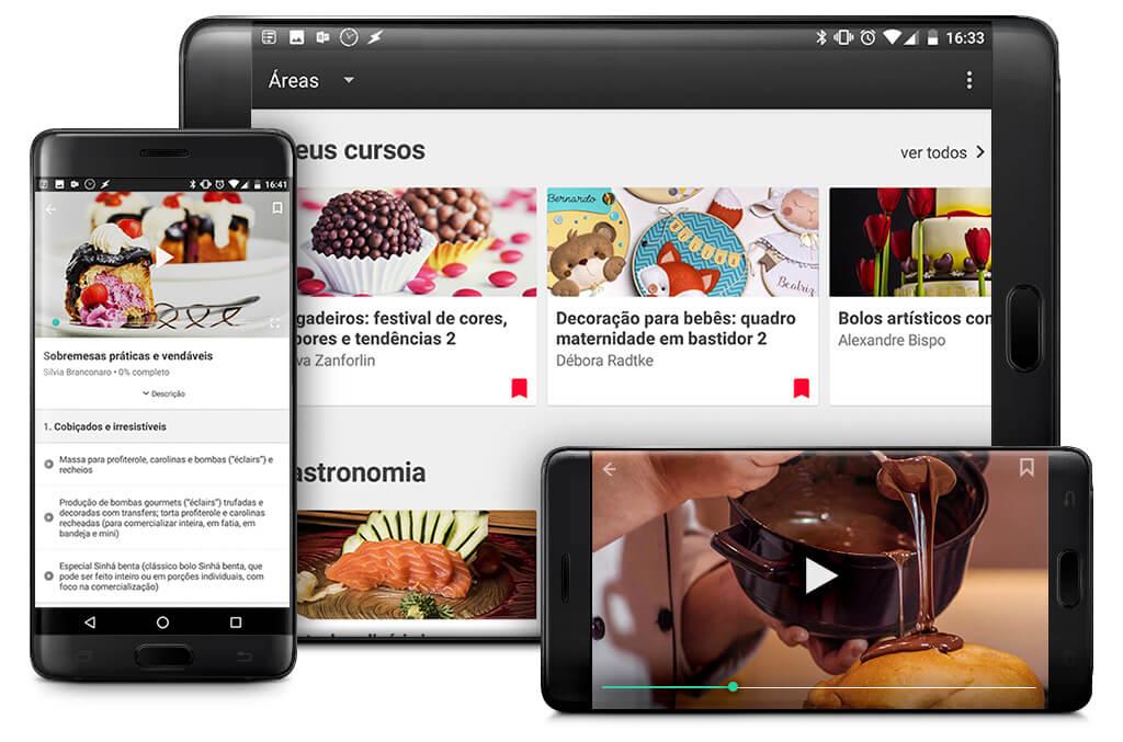 Seja no seu tablet ou no seu celular: seus cursos preferidos da eduK agora estarão sempre com você!